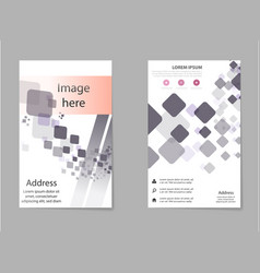 business set brochure template layout cover vector image