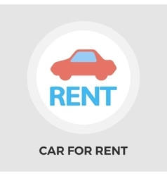 Car for rent flat icon vector