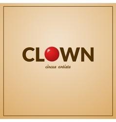 Clown logo vector