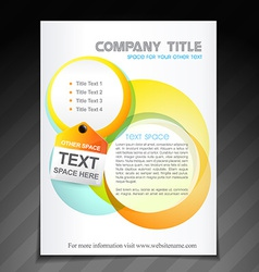 Creative company brochure flyer design vector