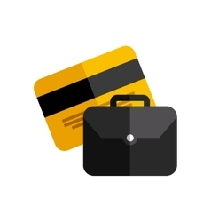 credit card with business icon vector image