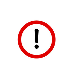 danger icon danger sign vector image