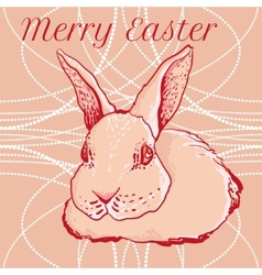 doodle easter rabbit for greeting cards vector image