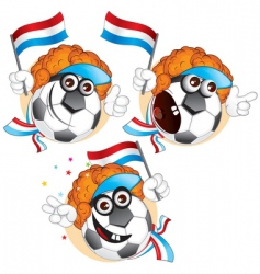 Dutch cartoon football vector image vector image