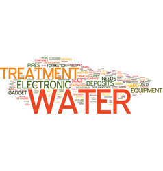 Electronic water treatment text background word vector