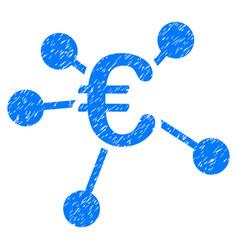 Euro distribution grunge icon vector