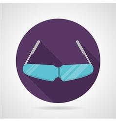 Flat color sport sunglasses icon vector image