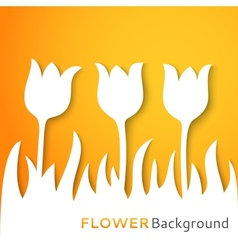 Flower applique background vector image