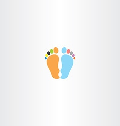 Footprint icon design element vector