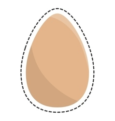 Fresh eggs isolated icon vector