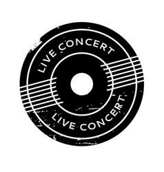 Live concert rubber stamp vector