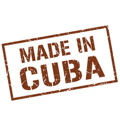 Made in cuba stamp vector