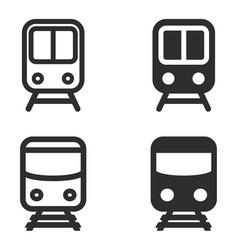 metro icon set vector image