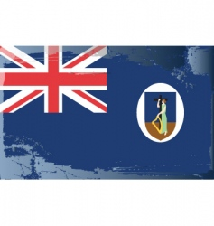 Montserrat national flag vector