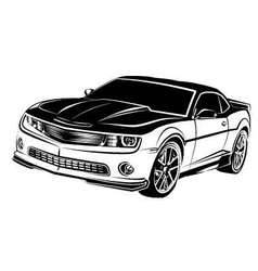 Muscle american car vector