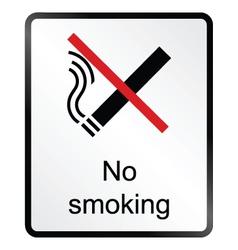 No smoking information sign vector