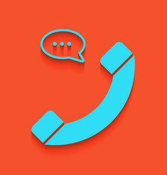 phone with speech bubble sign whitish vector image