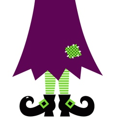 Retro Halloween witch legs isolated on white vector image vector image