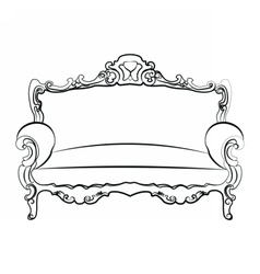 Royal Sofa with classic ornaments vector image vector image