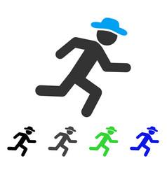 Running gentleman flat icon vector