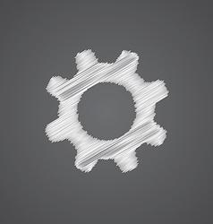 Settings sketch logo doodle icon vector