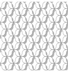 sinusoida seamless pattern vector image vector image