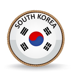 South Korea Seal vector image vector image