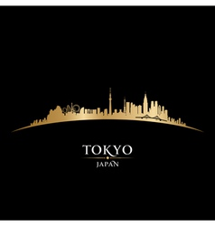 Tokyo japan city skyline detailed silhouette vector