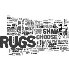 which style of shaw rugs fits your style text vector image vector image