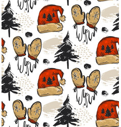 winter forest background seamless pattern for vector image