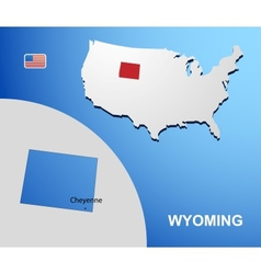 Wyoming vector image vector image
