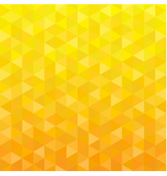 yellow triangle geometric background vector image vector image