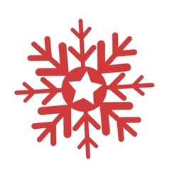 Happy merry christmas snowflake icon vector