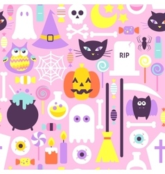 Trendy Style Halloween Seamless Pattern vector image