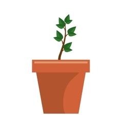 Plant garden pot icon vector