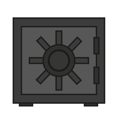 Isolated strongbox design vector