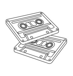 Cassettes for tape recorderhippy single icon in vector