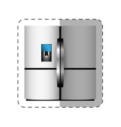 Refrigerator appliance home cut line vector