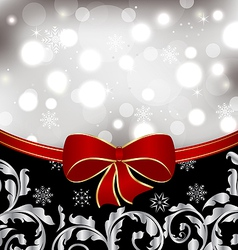 Christmas floral background ornamental design vector image