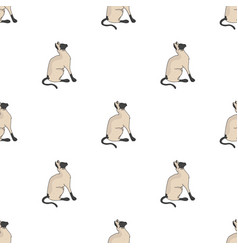 Siamese icon in cartoon style isolated on white vector