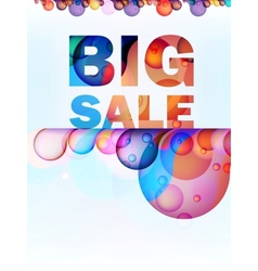 Abstract splash Big Sale card EPS10 vector image