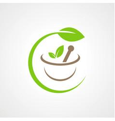herbal medicine bio logo vector image
