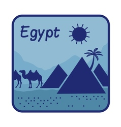 With pyramids in egypt vector