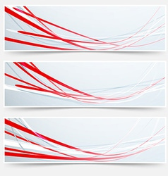 Bright red speed rapid swoosh stream line header vector