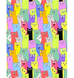 Cats Seamless funny background vector image