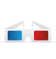 3d glasses2 vector image