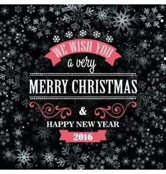 Typographic retro christmas design vector