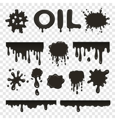 Oil or petroleum splat collection vector