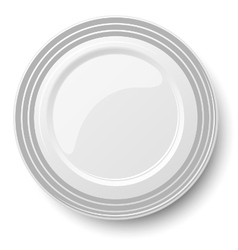Classic plate isolated on white background vector