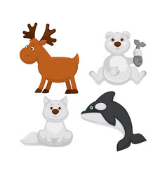 Adorable baby animals from cold countries vector